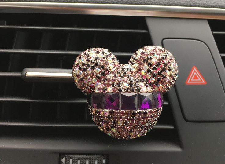 Dame de voiture climatiseur clip décoration Strass style Mickey tête de voiture de parfum de voiture désodorisant parfum solide 100 d'origine