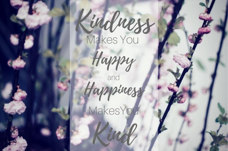Kindness Makes You Happy and Happiness Makes You Kind