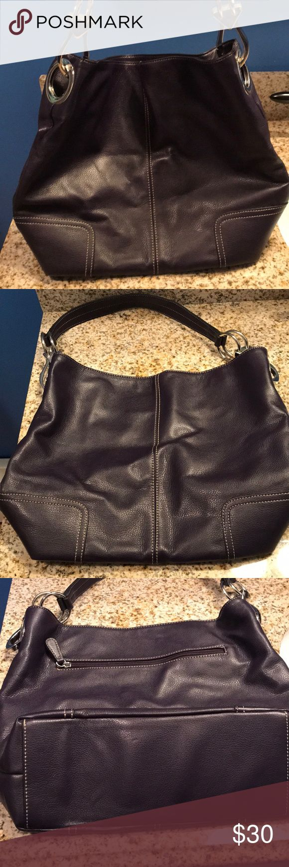 Large Dark Purple shoulder bag Brand new (no tags). Never used, perfect condition. Clean, roomy dark purple shoulder bag. Magnetic closures, large silver clasps. No name brand.  ⭐️ Non Smoking Home ⭐️ No Trades Bags Shoulder Bags