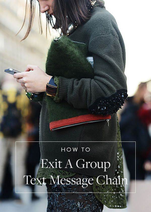 Help! I Need Off This Horrible Group Text Message Chain! via @PureWow