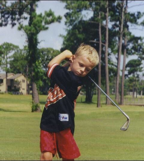 Jordan Spieth started golf at an early age. Look at that swing.....