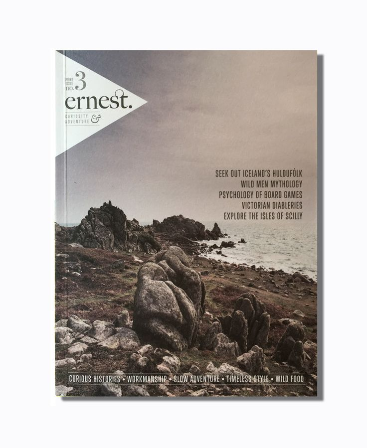 Ernest Journal Issue 3: Ernest Journal is a blog, a digital magazine and biannual printed journal for curious and adventurous gentlefolk.  It is a guide for those who appreciate true craftsmanship, who are fascinated by curious histories and who care more for timeless style than trends. It is a periodical of substance created for folk who love to build fires, camp under a canopy of stars and run full pelt into the sea. It is for people who'd like to learn how to fly fish, brew beer in their…