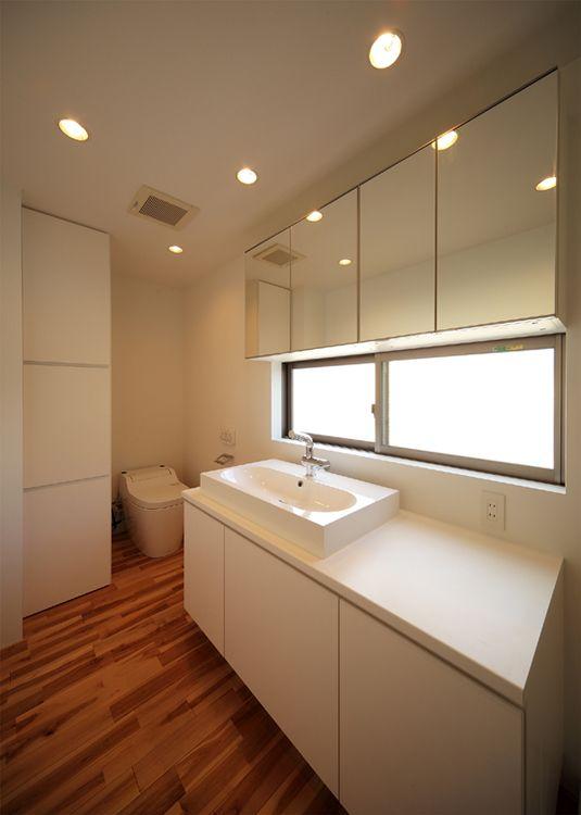 IKEAの洗面ボウル&ミラーキャビネット : haus architect studio