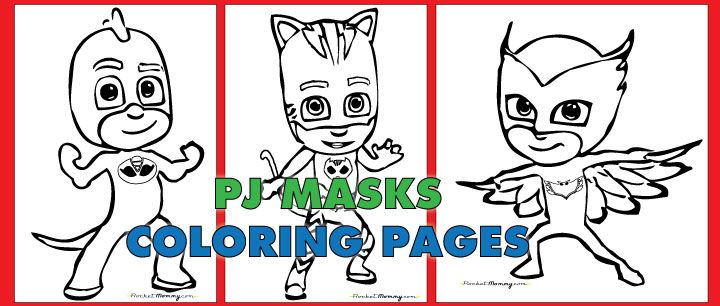 Free PDF download of PJ Masks coloring