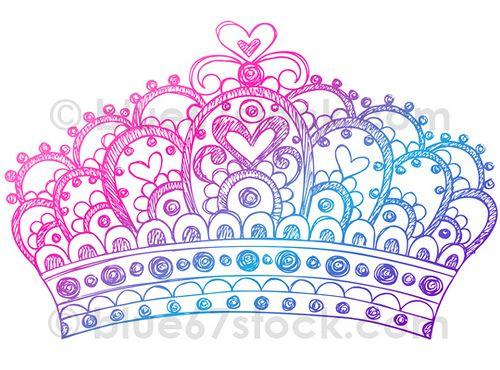 Hand-Drawn Sketchy Princess Tiara Crown Doodle Drawing Vector Illustration by blue67design | Flickr - Photo Sharing!