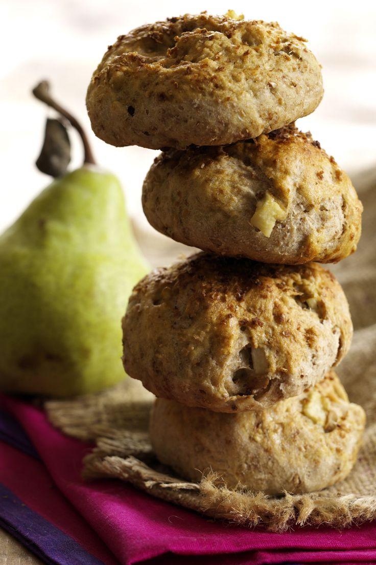 Sunde boller med hele 3 gram fibre pr. bolle. Gode i madpakken eller som mellemmåltid.