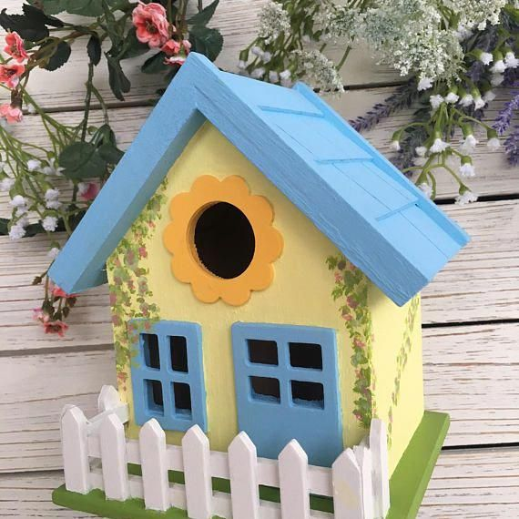 This Hand Painted Decorative Birdhouse Is The Perfect Addition To