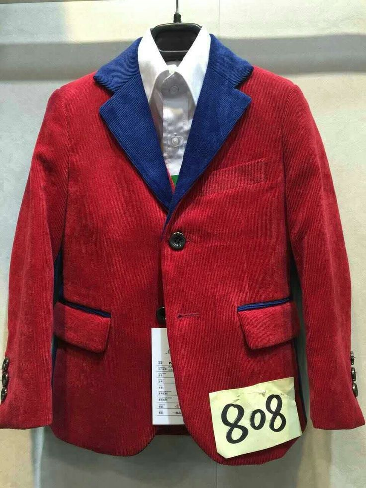 33.43$  Buy now - http://alilx5.shopchina.info/1/go.php?t=32749827203 - Boys Corduroy Suits Red Wedding Tuxedo for Children Formal Terno Jacket Vest and Pant 3PCS Education Party Suits  #buymethat