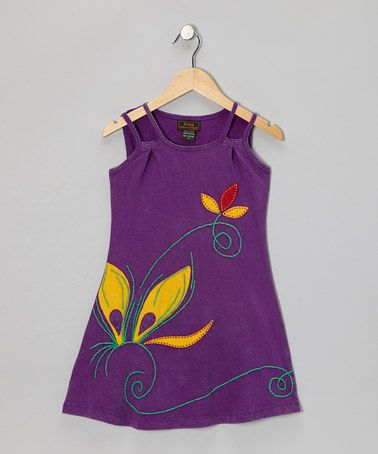 Take a look at this Purple Flower Sleeveless Dress - Girls by Rising International on #zulily today!