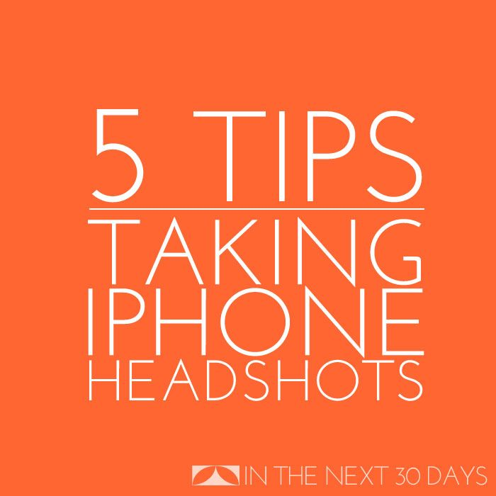 A professional headshot can make all the difference on your blog and social media profiles. Here's how to get that look with your iPhone. | In The Next 30 Days