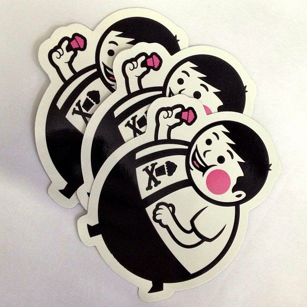 Johnny cupcakes via instagram com stickerobot graffiti sticker