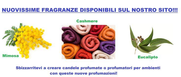 Nuove fragranze sul nostro sito! :) New fragrances on our site! :)   Disponibili su/Available on: http://monterosawicks-store.com/tutto-per-candele-fai/fragranze-colori/fragranze-c-31_2_11.html