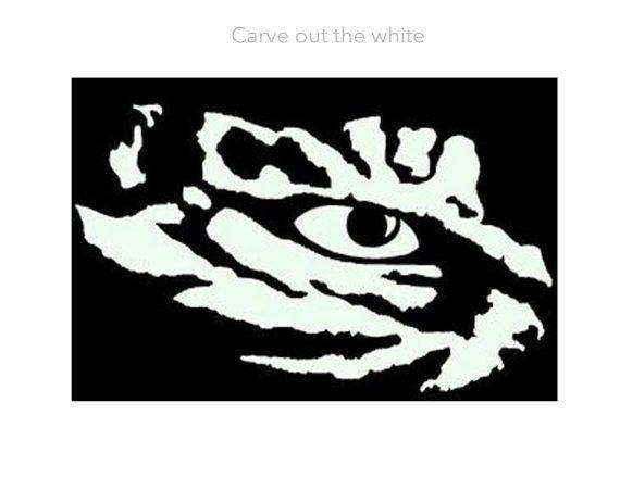 Lsu Logo Clip Art: LSU Tigers Eye Stencil For Pumpkin. By