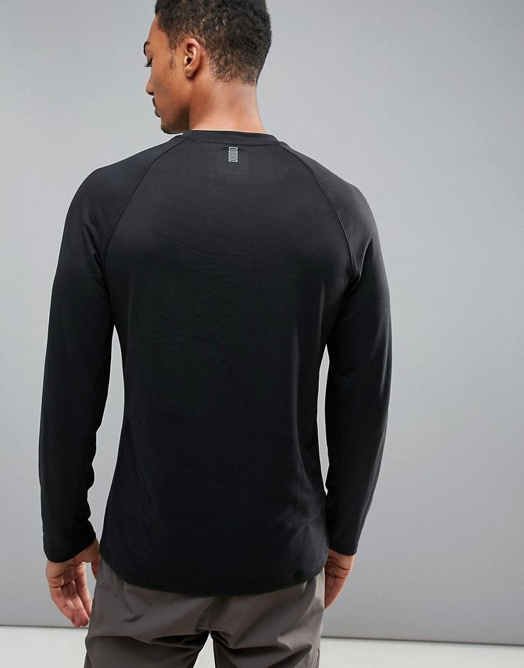 Perry Ellis 360 Sports Long Sleeve Top Heartbeat Print in Black - Blac