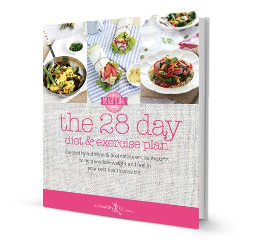 28 Day Diet & Exercise Plan Printed Book | The Healthy Mummy