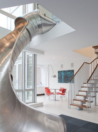 East Village Penthouse, Contemporary Family Room, New York