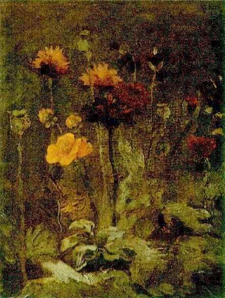 Vincent van Gogh. Still Life with Scabiosa and Ranunculus. Paris: Spring, 1886