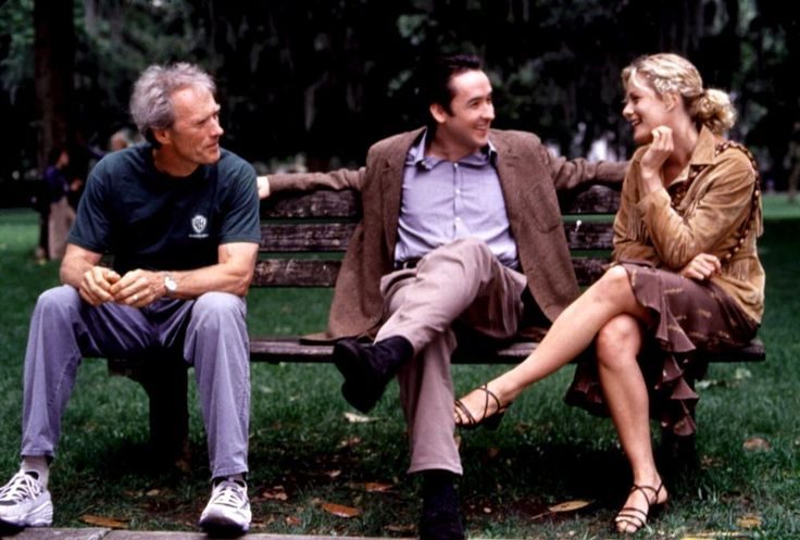 Director Clint Eastwood With John Cusack And Alison Eastwoo Movie Midnight In The Garden Of