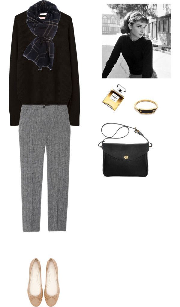Без названия #227 by iri-1 featuring leather handbags ❤ liked on PolyvoreOrganic by John Patrick long sweater / See by Chloé crop pants / Zara flat shoes / Mimi Berry leather handbag, $375 / MARC BY MARC JACOBS ring / Denis Colomb cashmere scarve