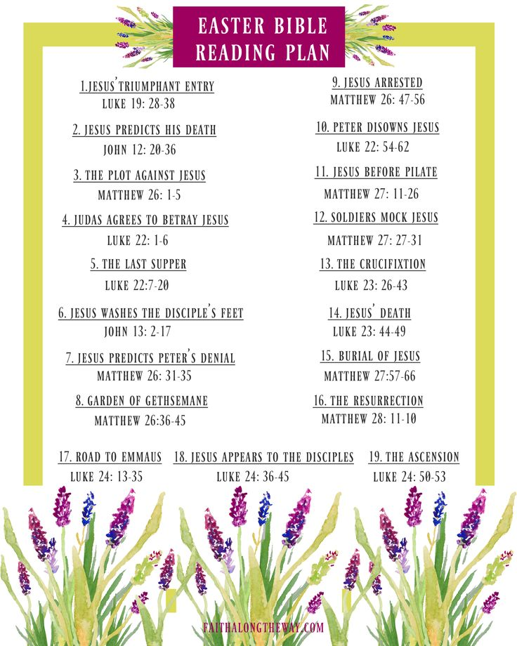 Renew your soul & prepare your heart for Easter. This FREE printable Easter Bible Reading Plan is perfect for family Bible study, too! I Easter Bible verses I Easter Bible quotes I Christian Easter I Christian Easter I Easter ideas II Faith Along the Way I #easter #bibleverses #bible