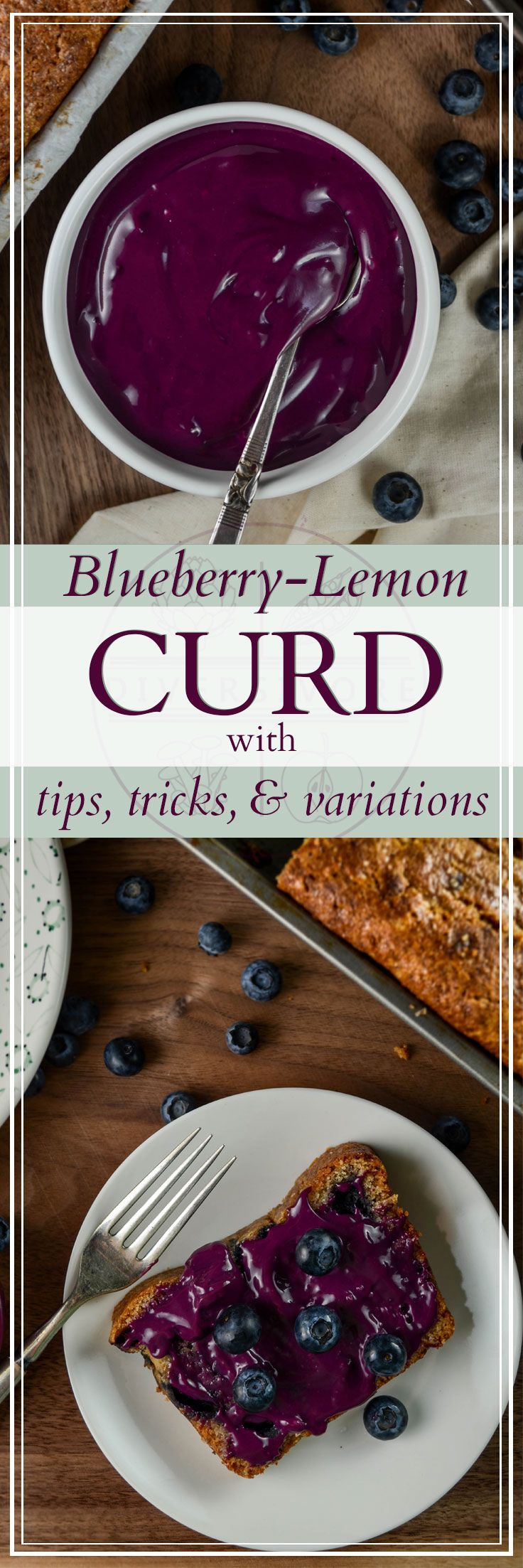 Blueberry Lemon Curd - a delicious and absolutely stunning dessert that's perfect for filling or topping cakes (or just eating with a spoon). Including both Vitamix and stove-top instructions. #Sponsored #blueberries #lemoncurd #dessertrecipes