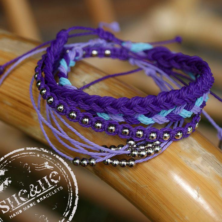 hand made friendship bracelets, macrame jewelry, macrame bracelets, braid bracelets, purple jewelry