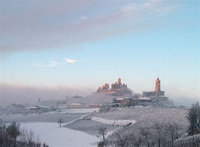 Vignale Monferrato, mattino d'inverno - F. Olivero