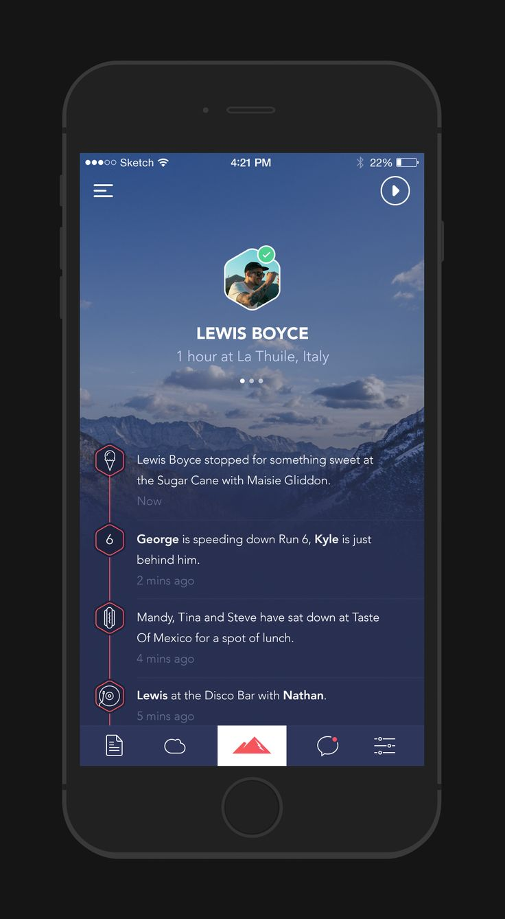 Powder App - Profile by George Gliddon