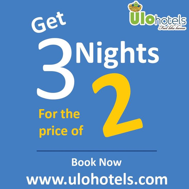 Delightfull #Offer on hotel stay by #ULOHotels. Visit www.ulohotels.com or +91 99 40 61 94 63.