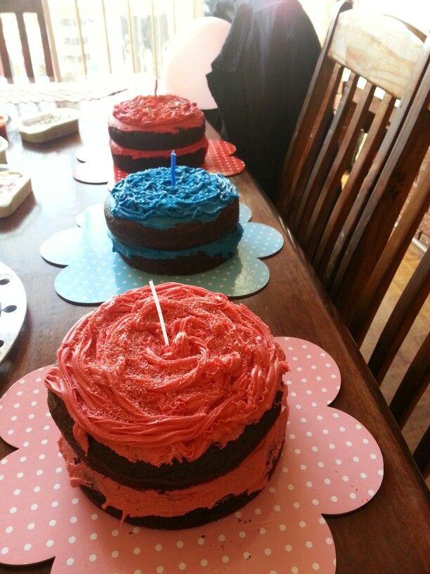 Triplets 1st birthday cakes