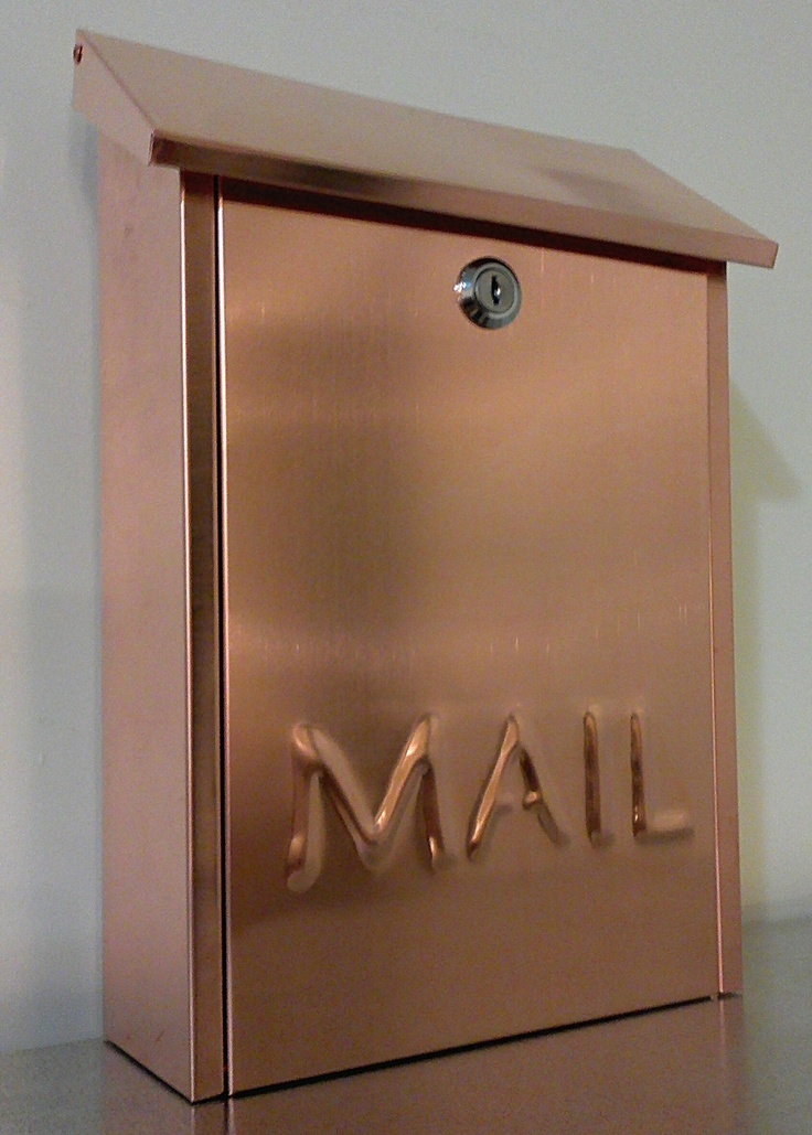 Wall mounted COPPER MAILBOX. $95.00, via Etsy.