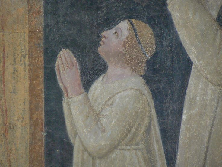 """SCHIAVO Paolo,1447-49 - La Crucifixion - Detail  (Cenacolo di Appolonia, Firenze) - Detail  -  TAGS : art painter details détail détails detalles painting paintings peinture peintures 15th 15e """"peinture 15e"""" """"15th-century paintings"""" """"15th century"""" """"details of painting"""" """"details of paintings"""" tableaux figure personne people """"homme en prière"""" prière prayer Italie Italia Italy Firenze Florence """"Holy Spirit"""" man men """"jeune homme"""" """"young man"""" """"Paolo Schiavo"""" Paolo Schiavo Crucifixion"""