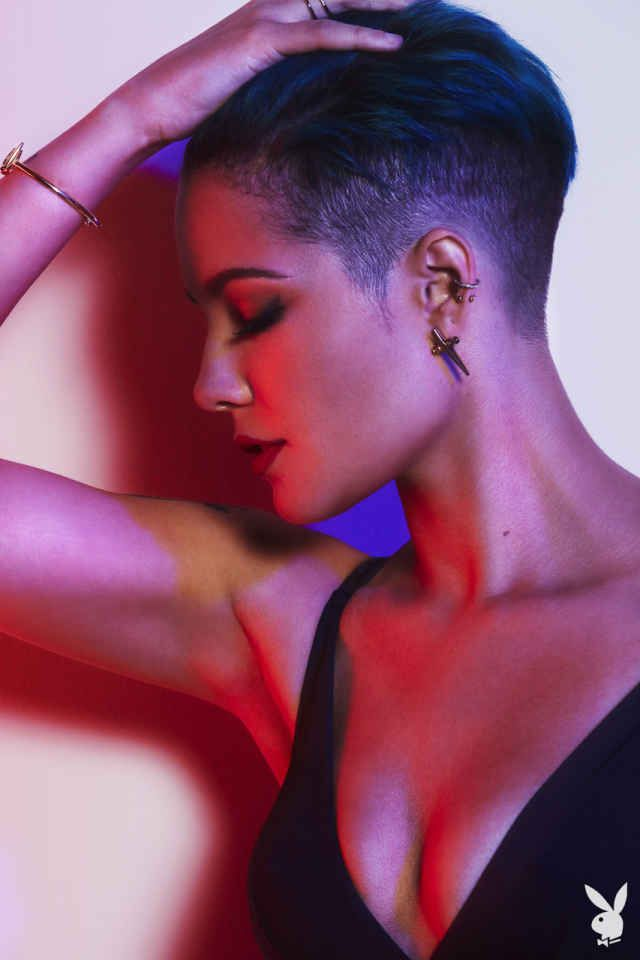 Singer Halsey Strips Down to Her Calvins for Playboy - Slide 13 | Playboy