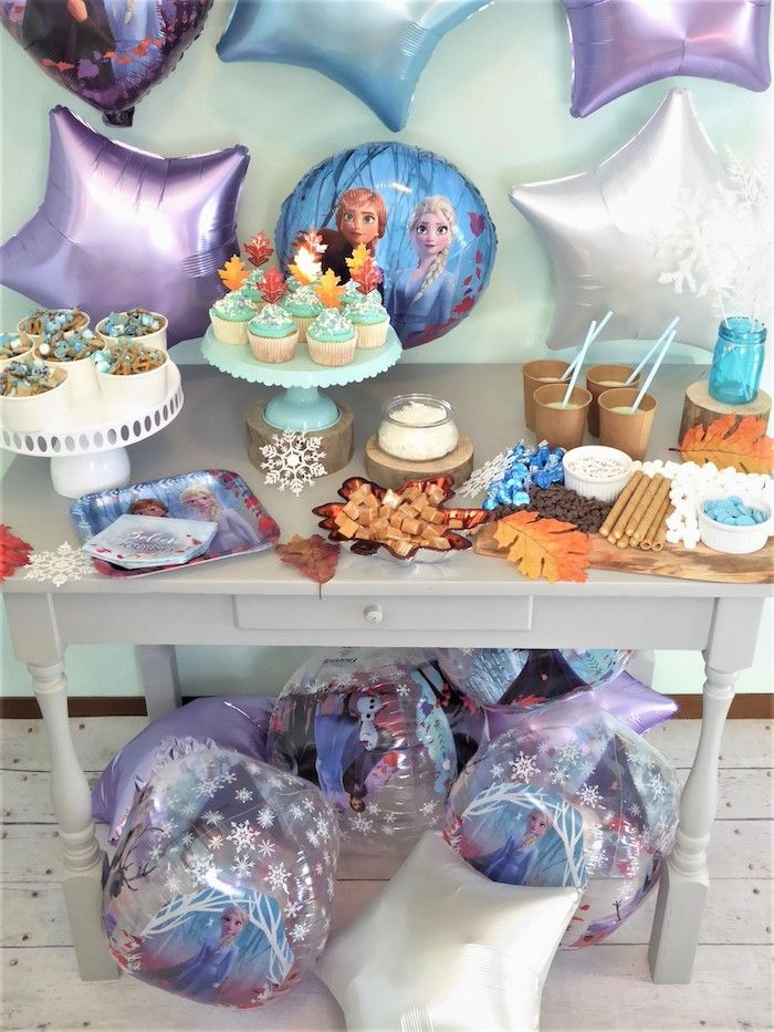 Table Decorating 9pcs Kit Frozen II Birthday Party Supplies