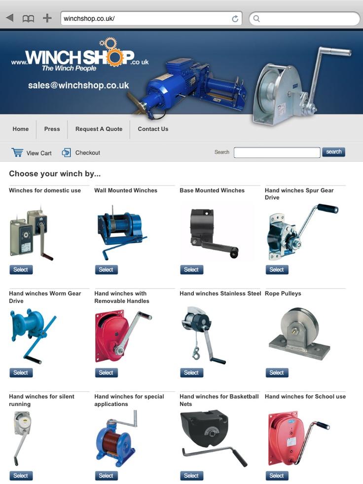 Winch Shop.  Website developed and designed by www.online-guru.co.uk