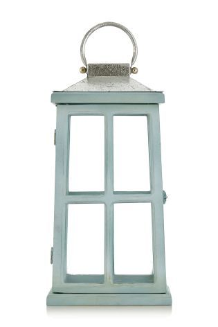 Painted Wooden Lantern from Next Home #FashionYourHome