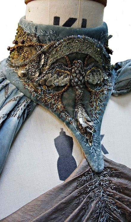 """From """"Game of Thrones"""" worn by Kate Dickie as Lysa Arryn design by Michele Clapton"""