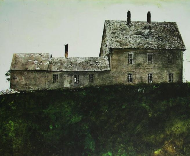 Andrew Wyeth I His work conveys solace, decrepitude, isolation as well as a sense of place and permanence, often in monochromatic watercolor.