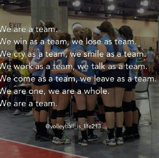 The way every volleyball team should think