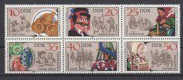 DDR / Sorbische Volksbräuche / MiNr.: 2716 - 2721 (6er Block)  | Zu verkaufen auf Delcampe