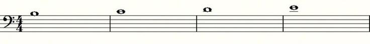 """CHIAVE DI FA (O DI BASSO): Ora quello che ci rimane da fare dopo aver """"sezionato"""" il pentagramma della chiave di SOL  è vedere come si sviluppano invece le note su un pentagramma che ha come chiave musicale la chiave di FA... (continua)"""