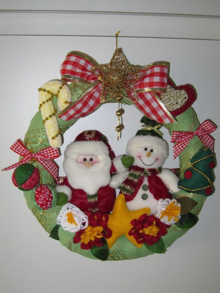 """Guirlanda de Natal de Feltro 1"" (Christmas Wreath) - by Patricia Wong"