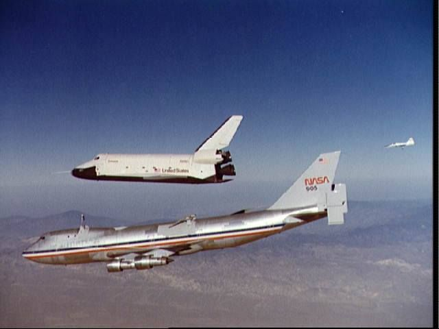 """NASA - Boeing 747-123 (N905NA) (c/n SCA905) with Space Shuttle """"Enterprise"""" (OV-101) Successfully Completed its 4th Free Flight Final Approach and Landing Test - 12 October 1977"""