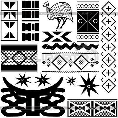 Древние африканские картины | Векторный клипарт | ID 3875834