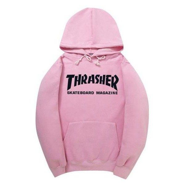 Thrasher sweatshirt ❤ liked on Polyvore featuring tops, hoodies, sweatshirts, hoodie top, hoodie sweatshirts, pink hooded sweatshirt, hooded pullover and cotton hooded sweatshirt