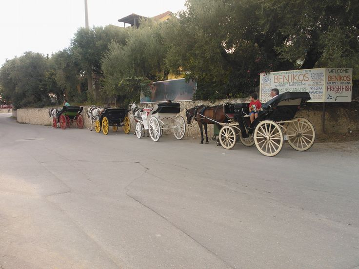 Horse carriages in Zakintos