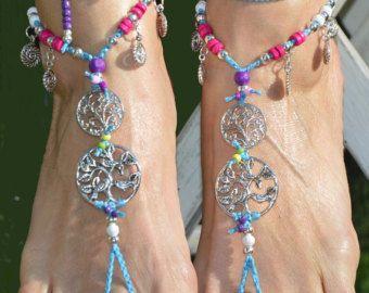 COACHELLA FESTIVAL groene Barefoot Sandals voet sieraden