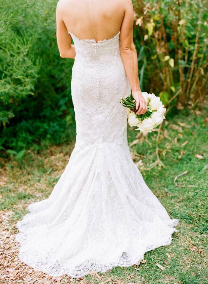 Marisa wedding gown 898. Beautiful lace mermaid