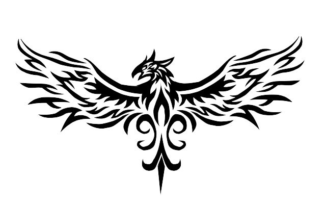 Phoenix Tribal Tattoo by Vauvenal