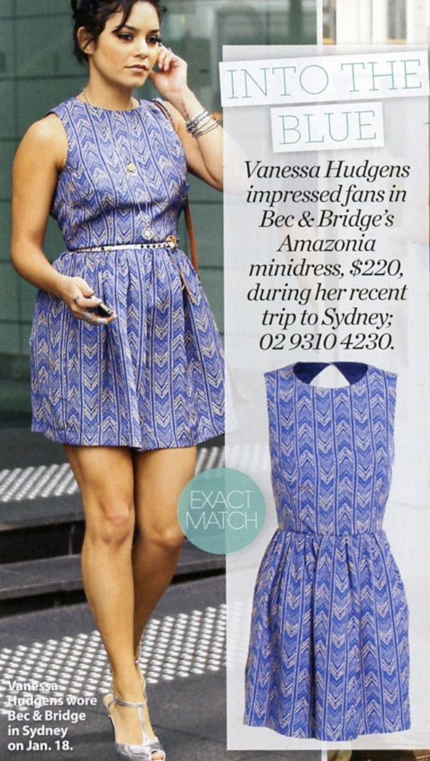 Vanessa Hudgens in the Amazonia Backless Dress, winter 2012